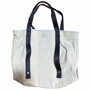 Lululemon Blue Striped Oversized Beach Tote Bag